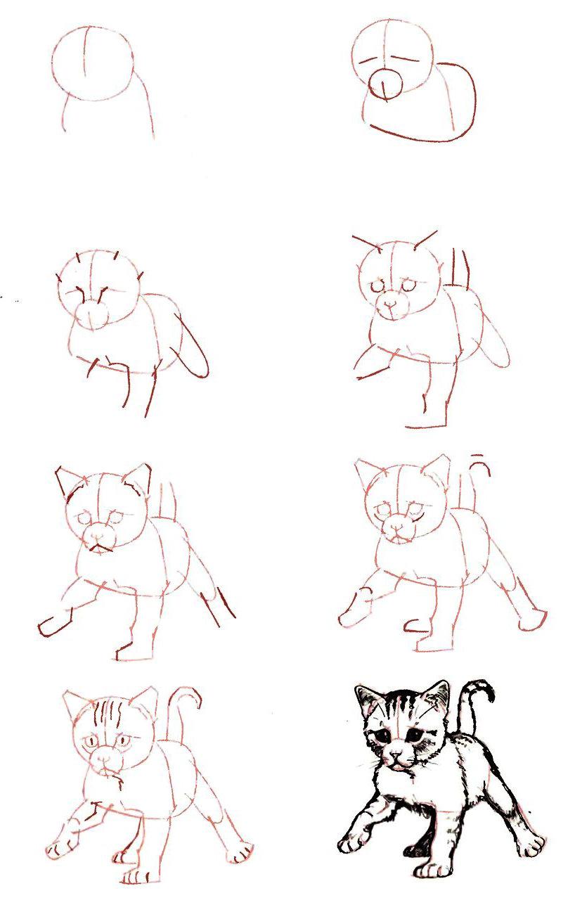 Рисунки карандашом простые для начинающих прикольные поэтапно, днем росгвардии