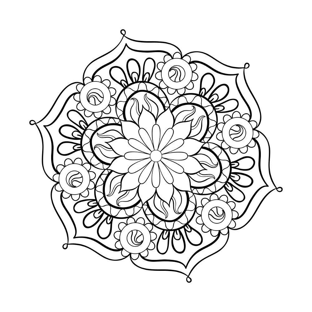 Мандалы картинки для срисовки