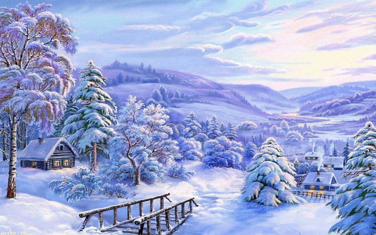 Картинки новогоднего леса для детей