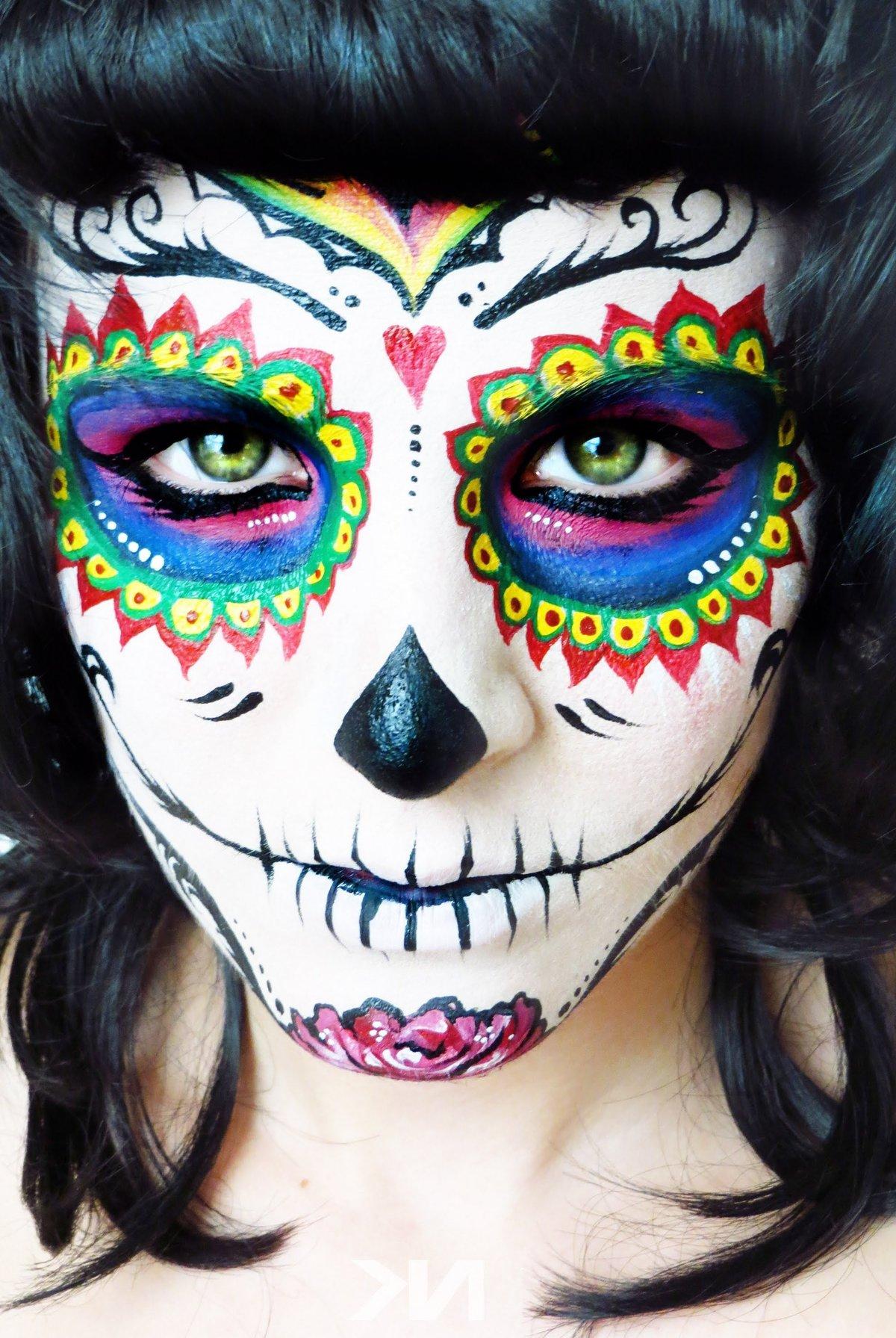 картинки для рисования на лице на хэллоуин всех животных