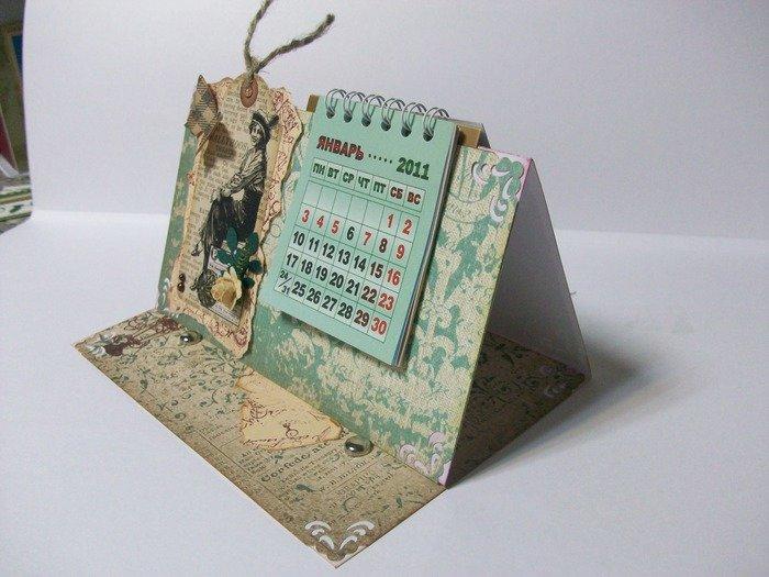 Изготовление календарей и открыток, картинки растениями