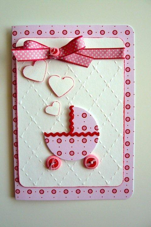 Скрапбукинг открытки с рождением дочери