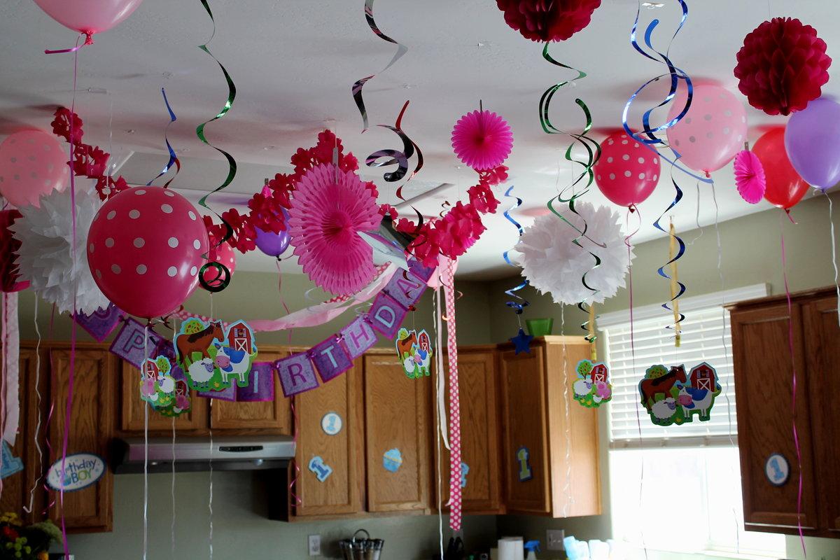 интимно украсить дом к дню рождения