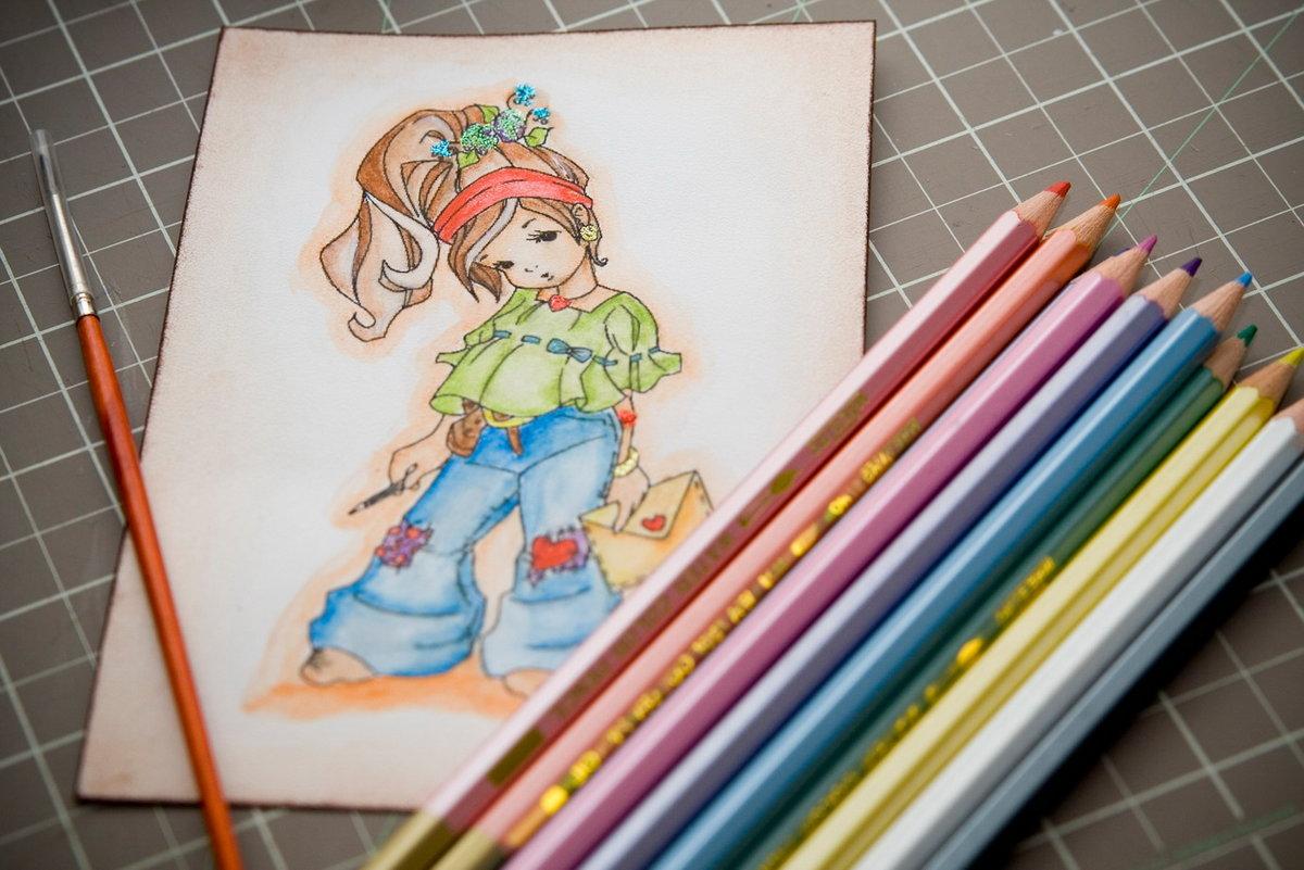 данном красивые картинки своими руками нарисовать цветными карандашами дома стоят
