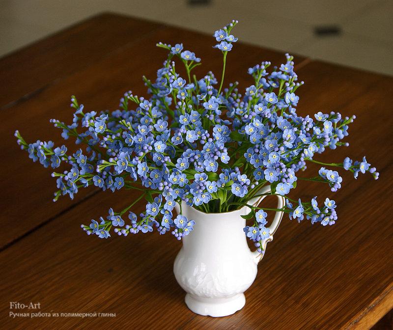 Фартовый букет незабудок, цветов спб