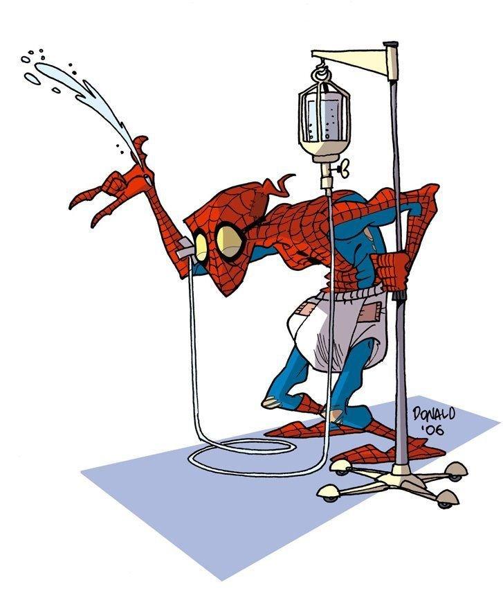 Прикольные рисунки человека паука