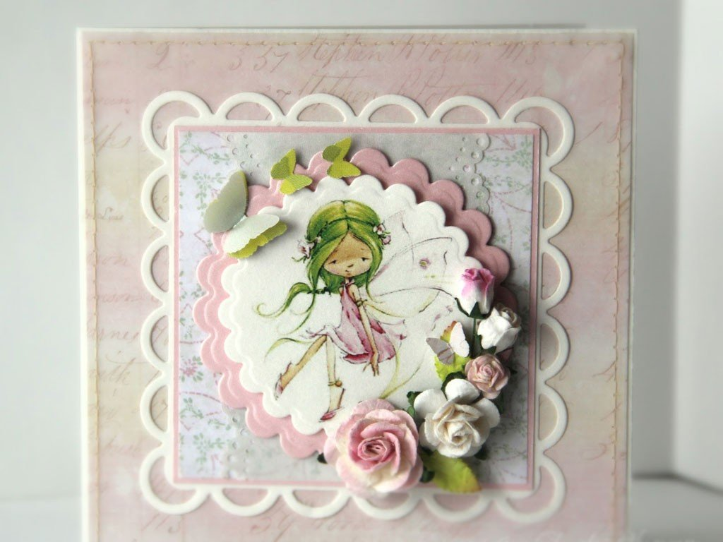 Днем рожд, открытка с днем рождения девочке мастер класс