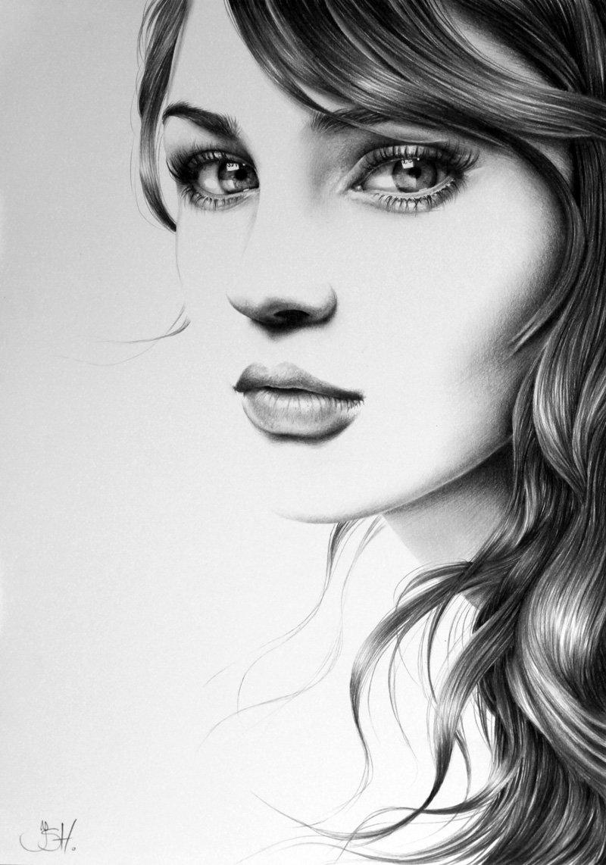 Нарисованные картинки с девушками красивыми