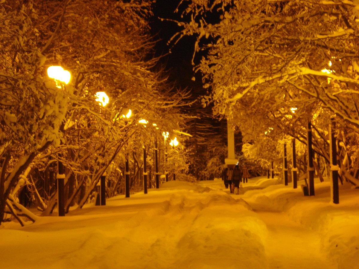 Картинки вечер снежный