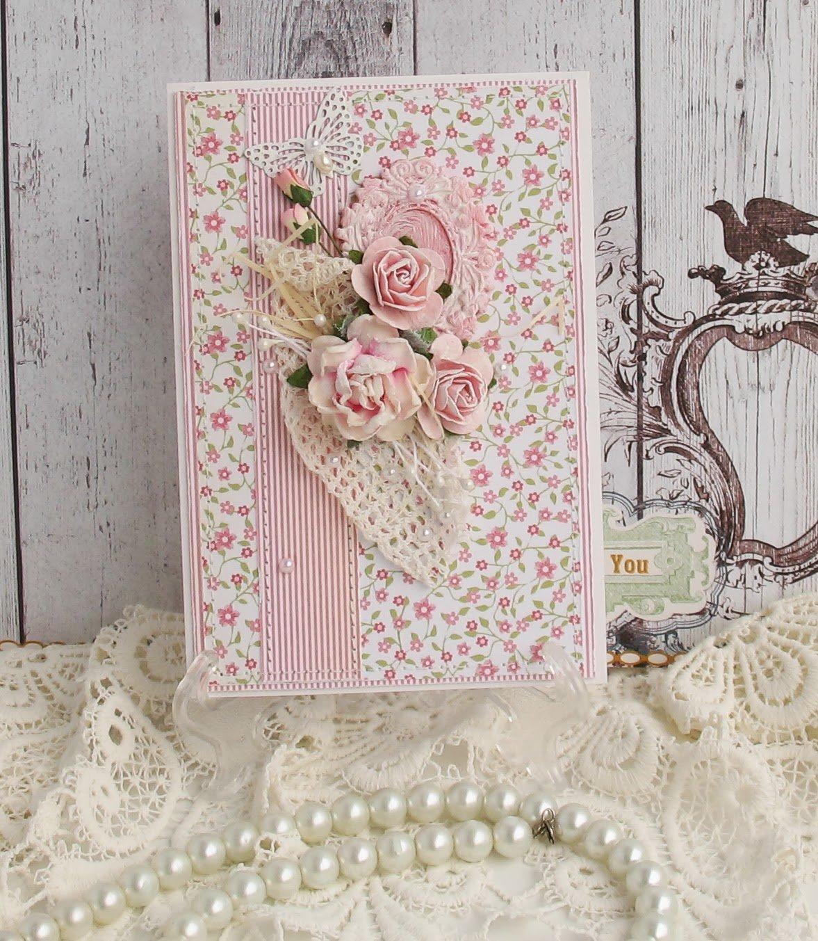 Оригинальные открытки в стиле скрапбукинга, днем рождения женщине