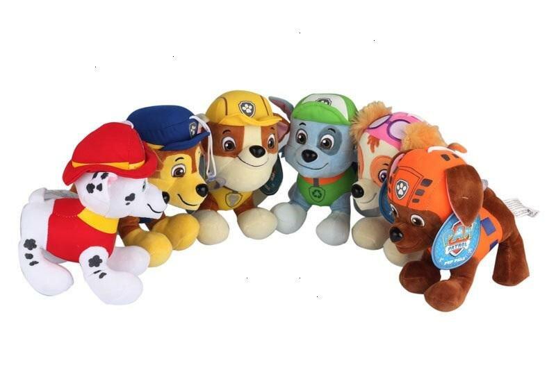 30pcs 6 Styles 12cm Paw Dog Plush Toys Children Kids Plush Dolls Poppy Dog Stuffed Toy Fireman Sam Patrol Plush Toys