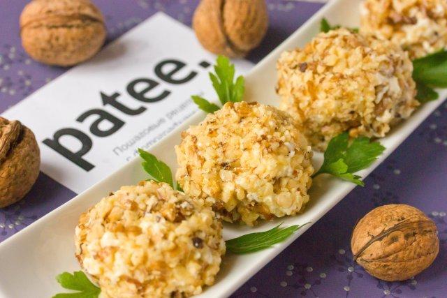 Сырные шарики с грецкими орехами