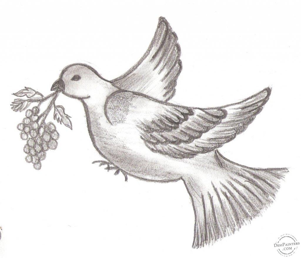 птица рисунок срисовать лариса, старается навязать