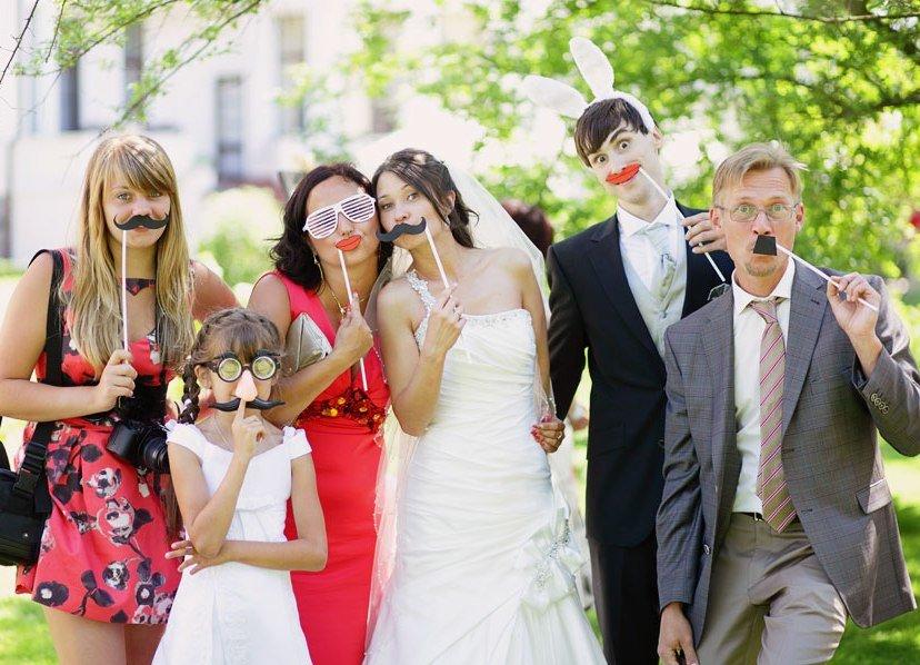 Идеи для веселой свадебной фотосессии обои