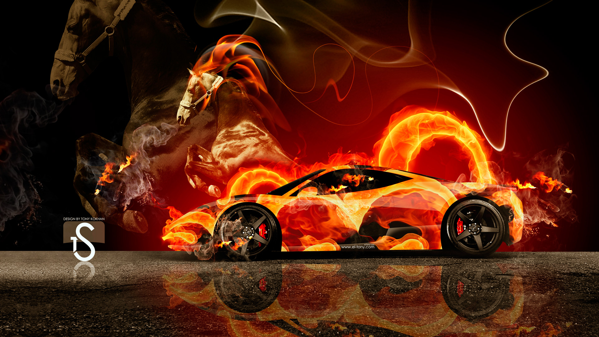 Ferrari Fire Horse Car 2014 Hd Wallpapers Design By Tony Kokhan Www