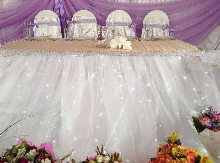 Свадебные юбки на стол своими руками 15