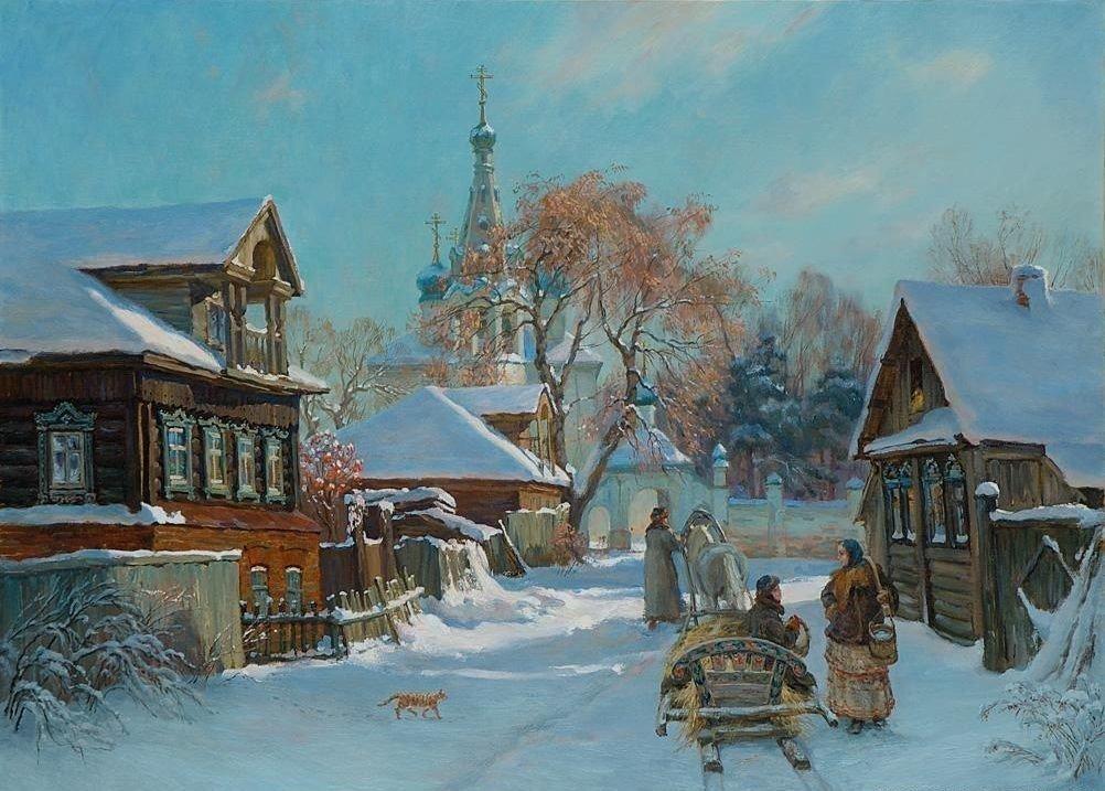 Днем, открытки россии живопись