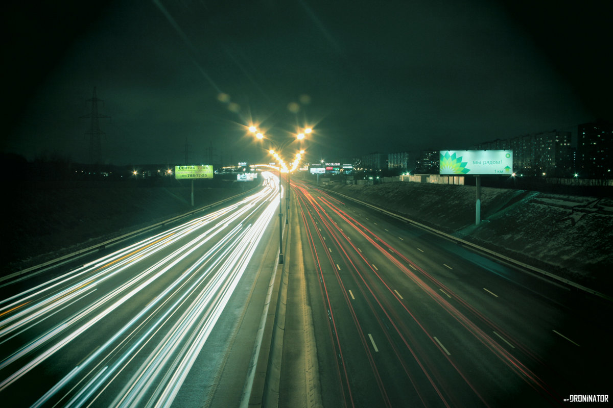 фото москва ночная дорога майорке, где