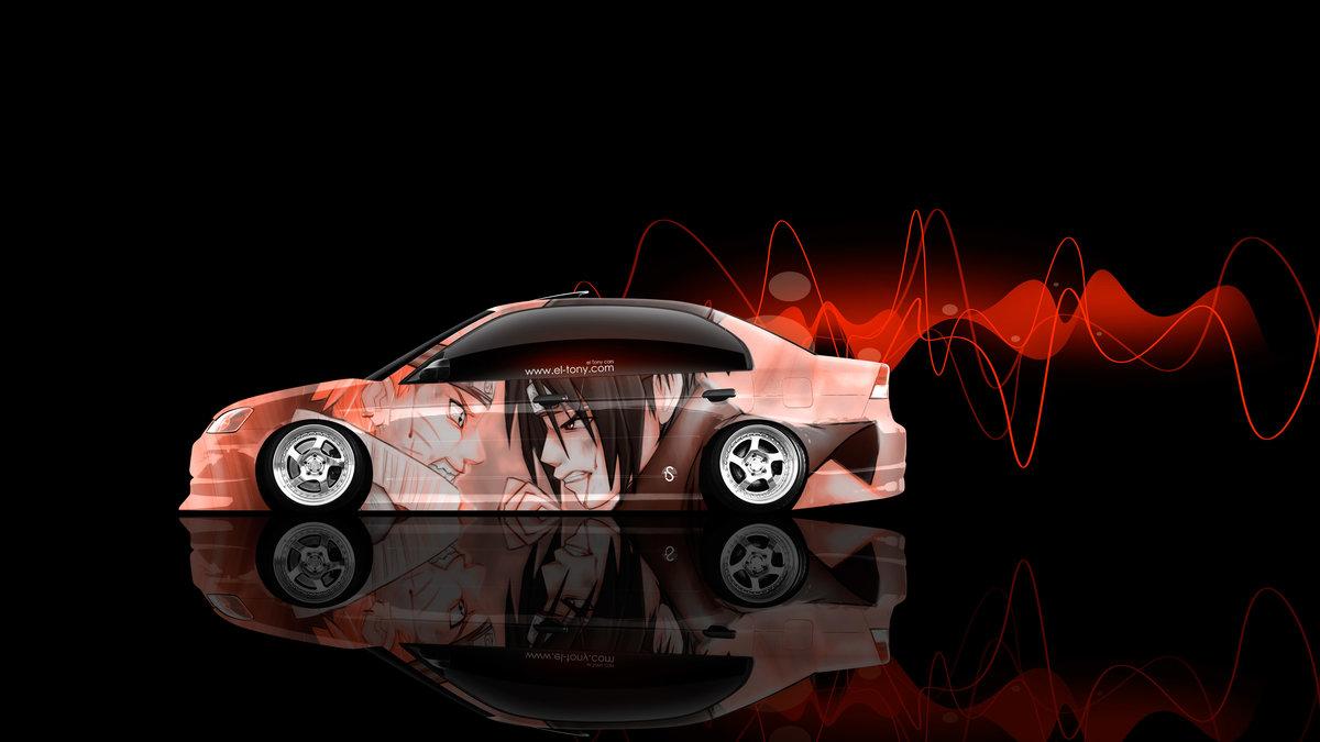 «Honda-Civic-JDM-Side-Anime-Naruto-Aerography-Car-2015 ...