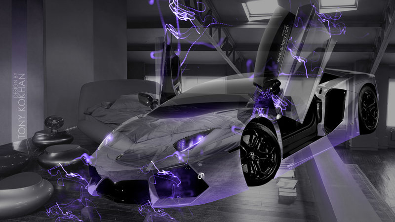 Lamborghini Aventador Open Doors Fantasy Transformer Crystal Home