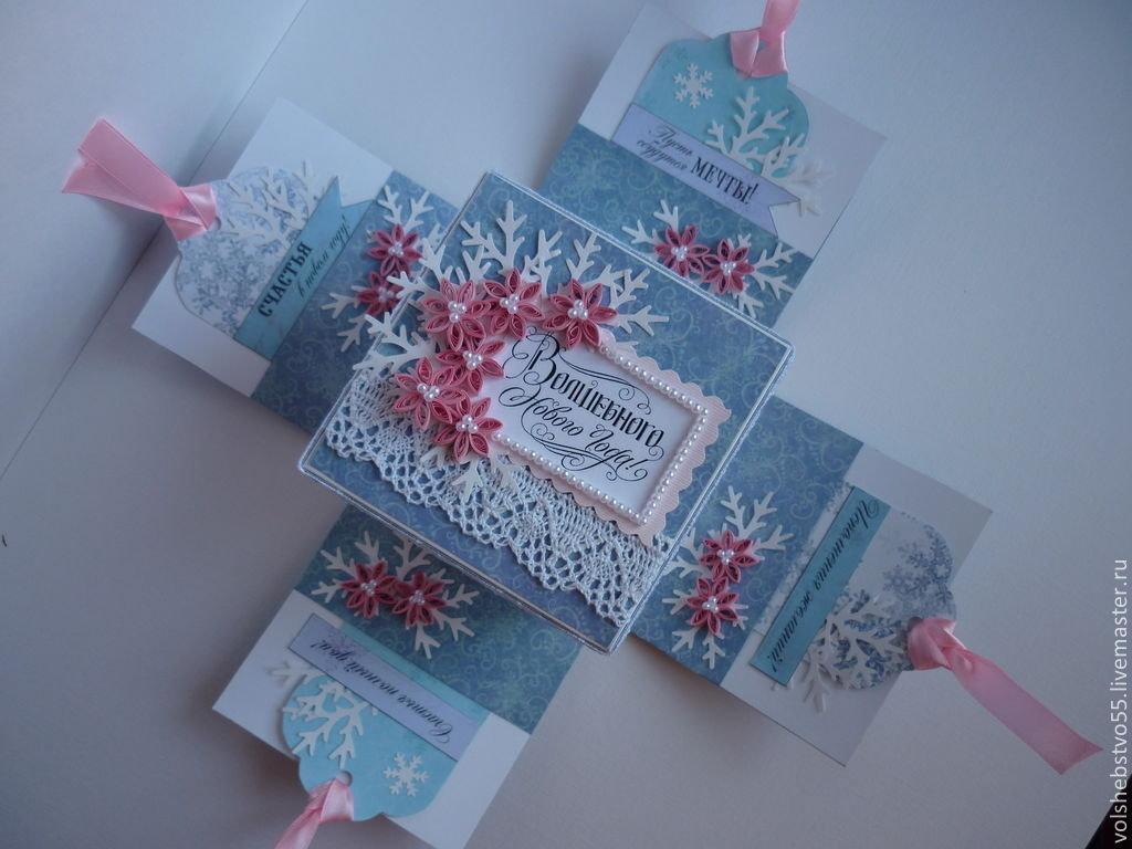 Новогодние открытки и коробки