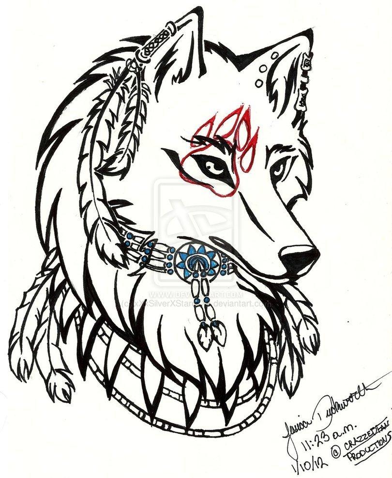 Красивые картинки, крутые картинки карандашом волки