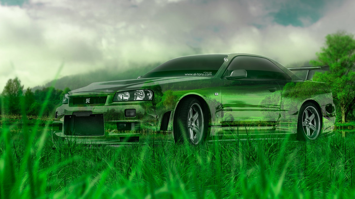 Nissan Skyline GTR R34 JDM Tuning Crystal Nature
