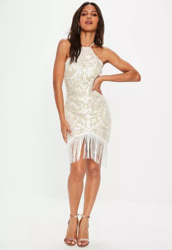 c24aa672edbf Облегающее белое платье с бахромой» — карточка пользователя savskina ...