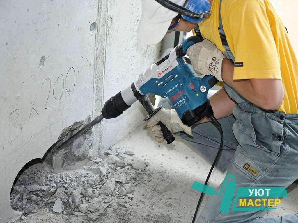 разборка бетонных конструкций отбойными молотками расценка