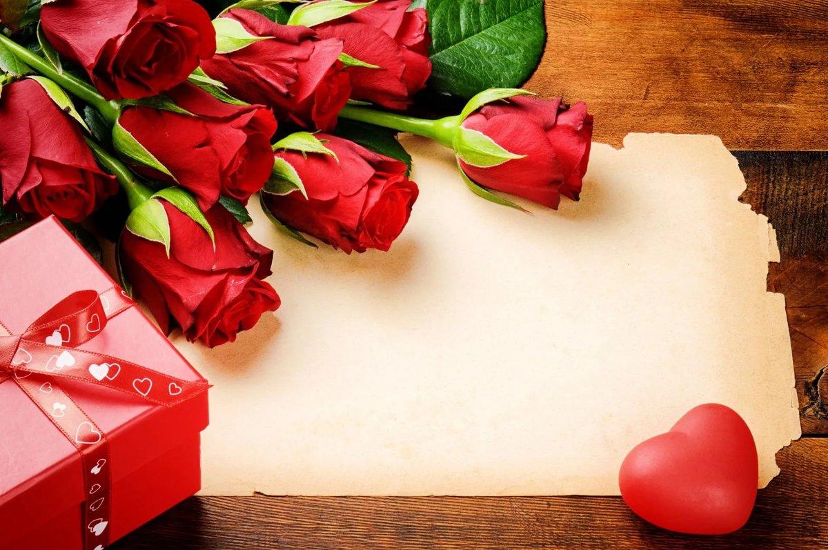 Фон для открытки женщине розы, любви