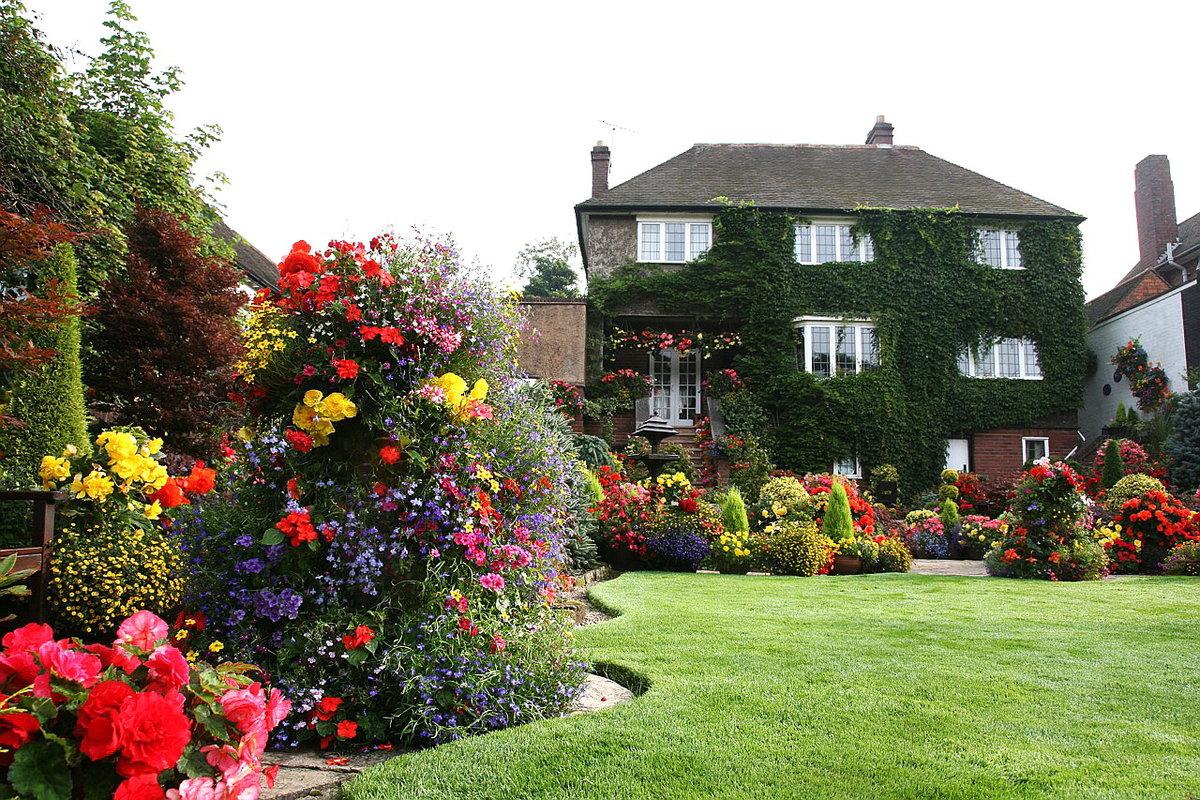 картинки английские дворики дача