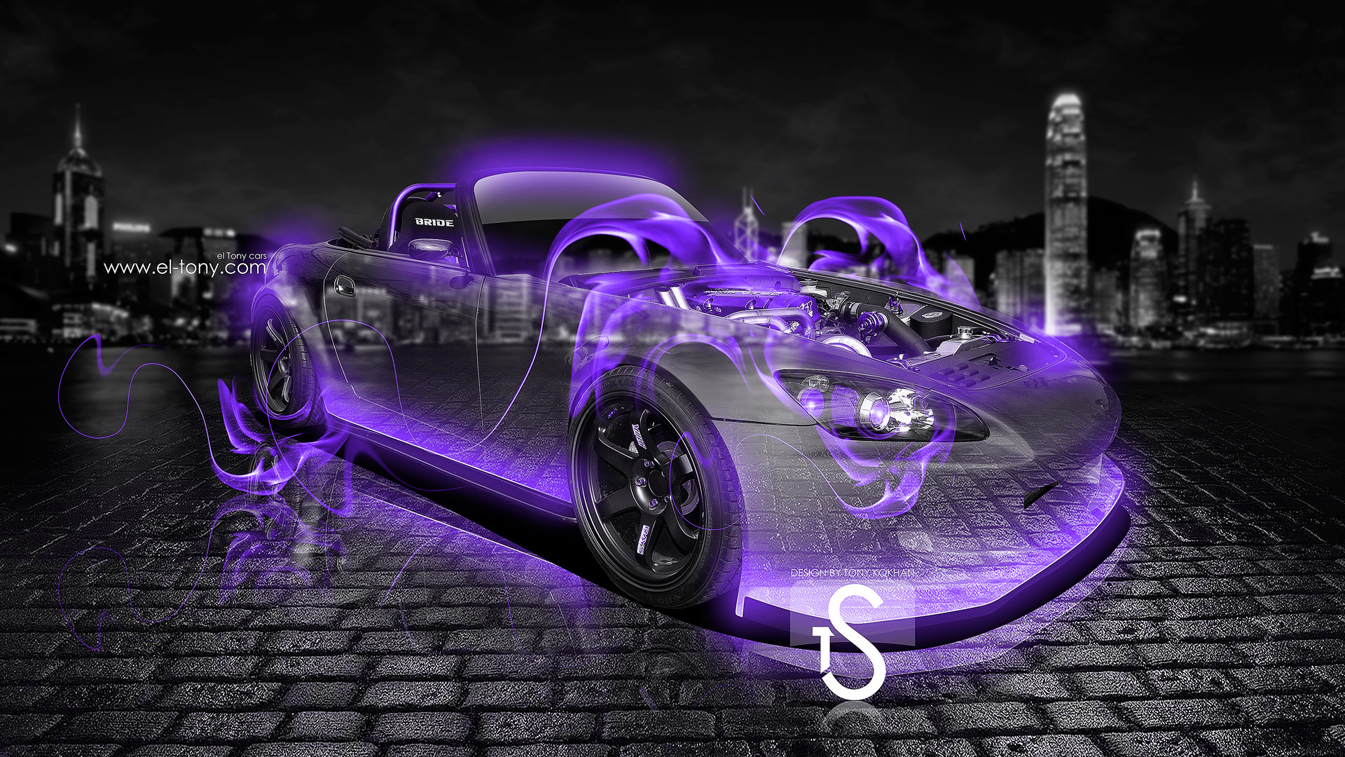 Honda S2000 Fire Crystal Car 2013 Violet Neon Hd Wallpapers By Tony