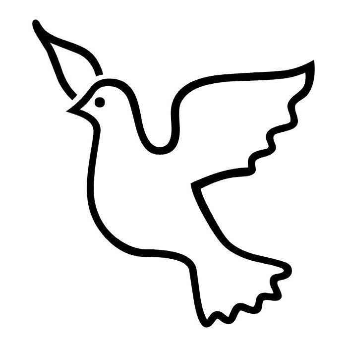 Рисунок голубя на открытку