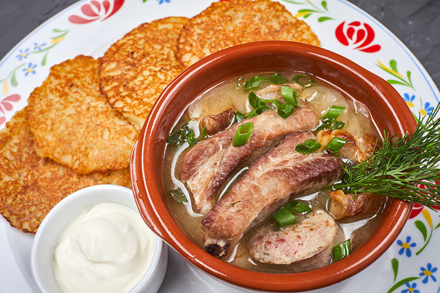 Классическое белорусское летнее блюдо, выполненное по всем правилам белорусской кухни.