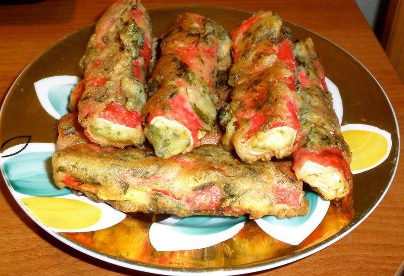 крабовые палочки в кляре с сыром и чесноком рецепт