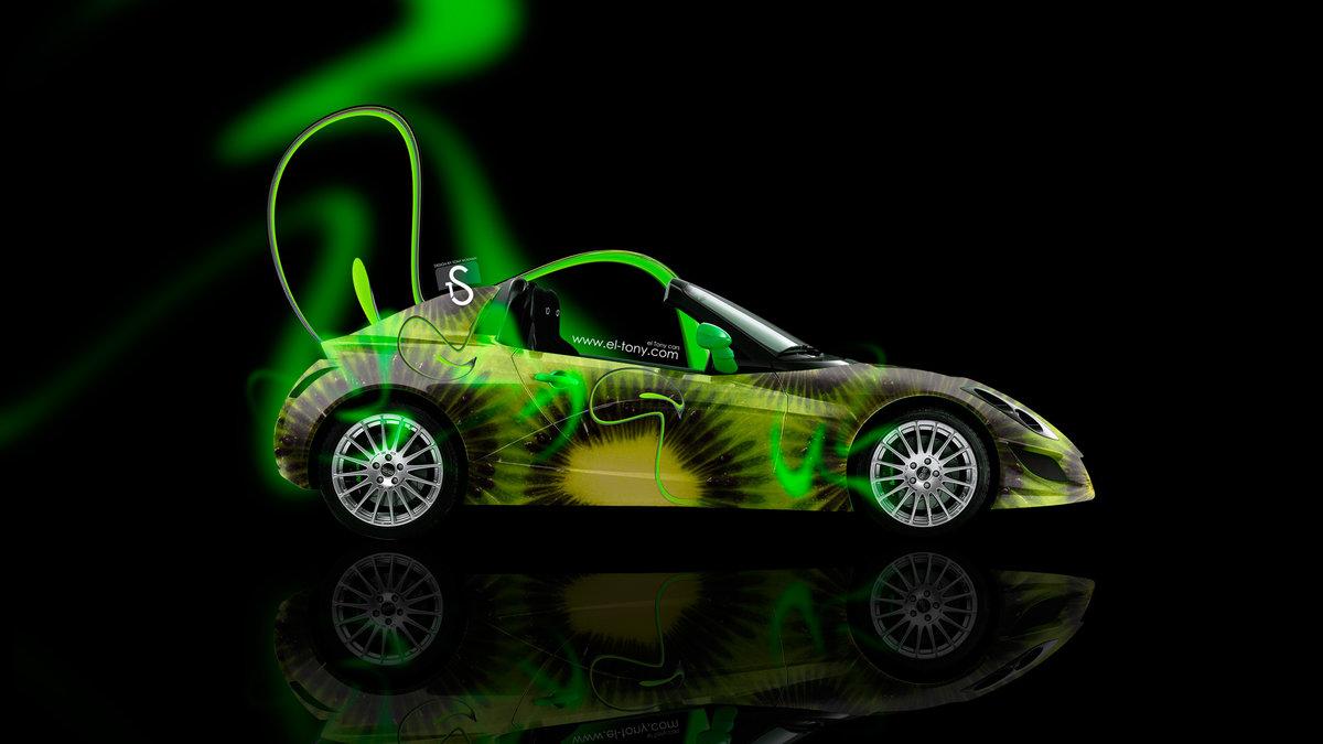 Edag Neon Kiwi Car 2014 HD Wallpapers Design