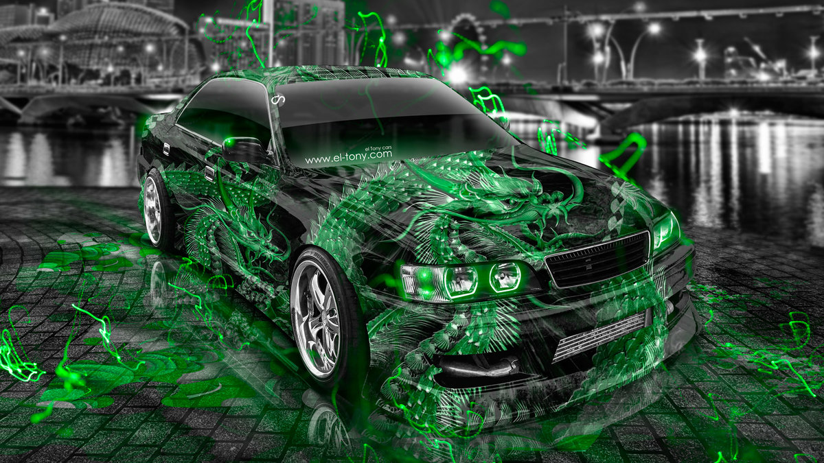 Toyota Chaser JZX100 JDM Tuning Dragon Aerography City