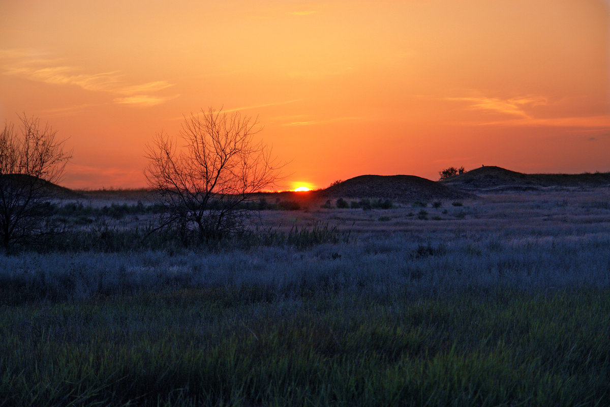 картинки с закатом и рассветом в степи
