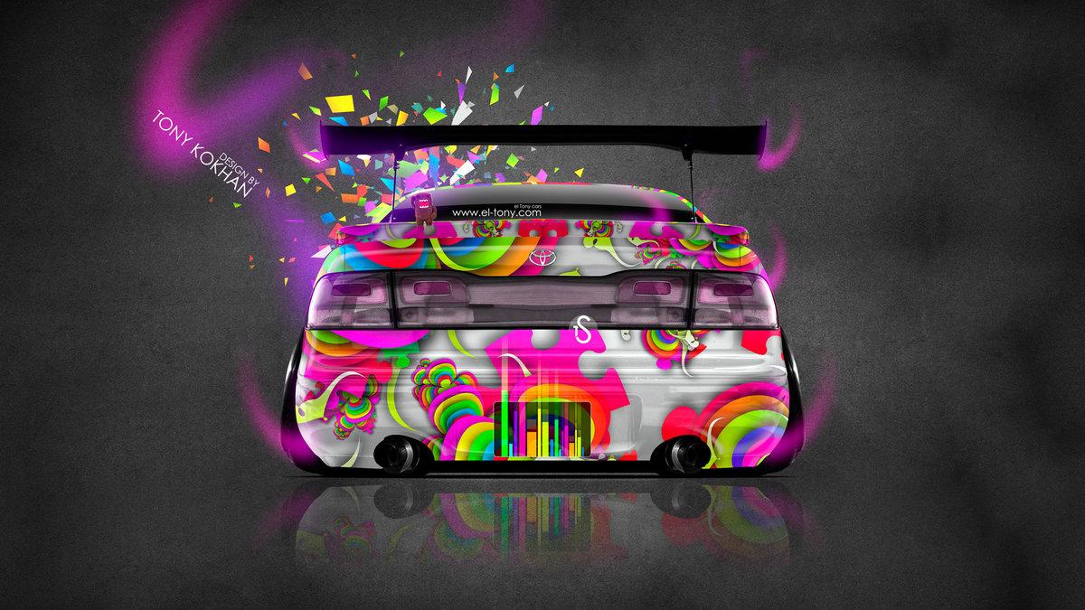 Toyota Aristo JDM Back Domo Kun Toy Car