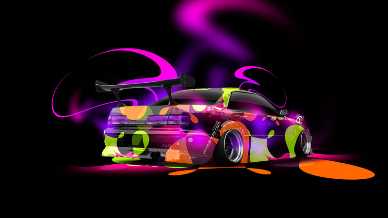 Toyota Mark 2 JZX100 JDM Tuning Super Abstract