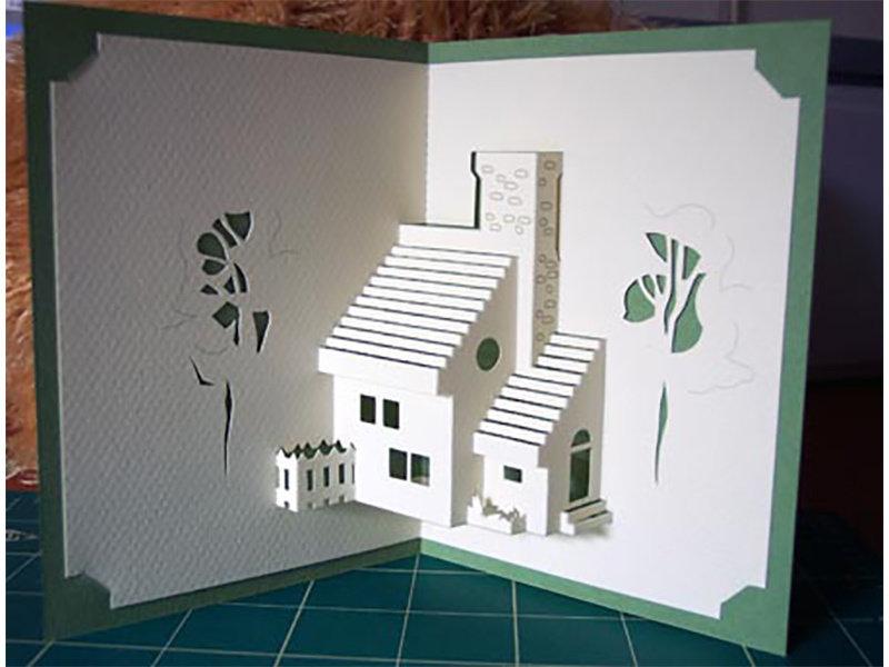 Трехмерные открытки из бумаги