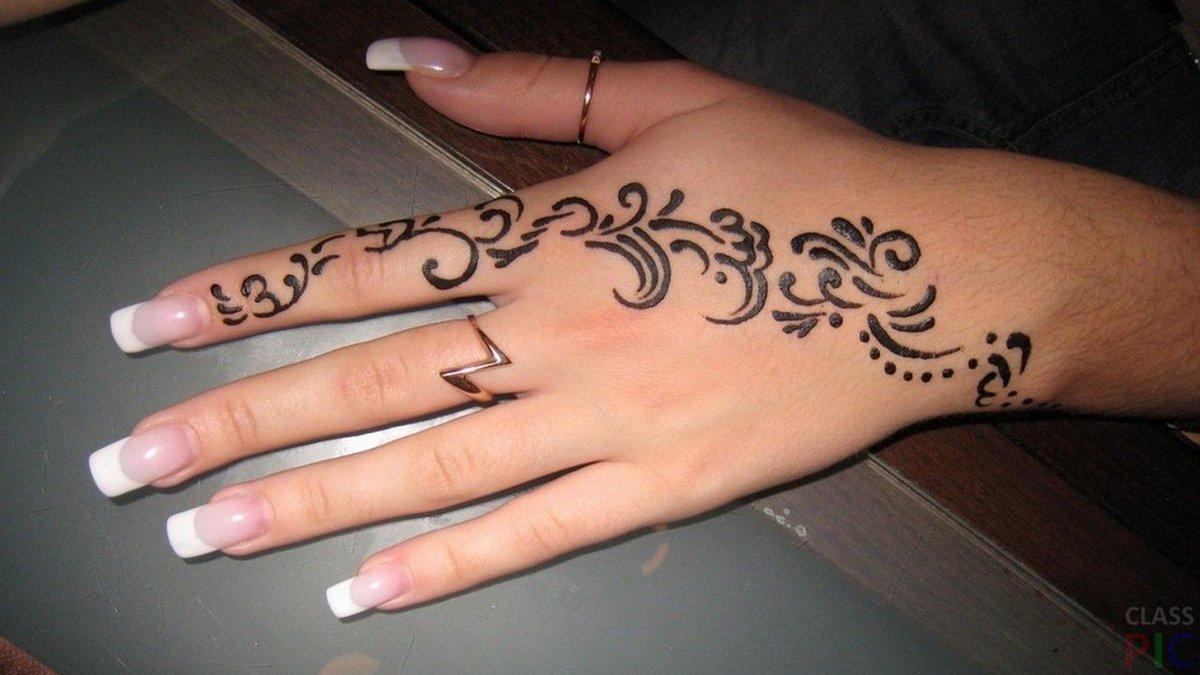 Трафарет для временной татуировки хной : Временная
