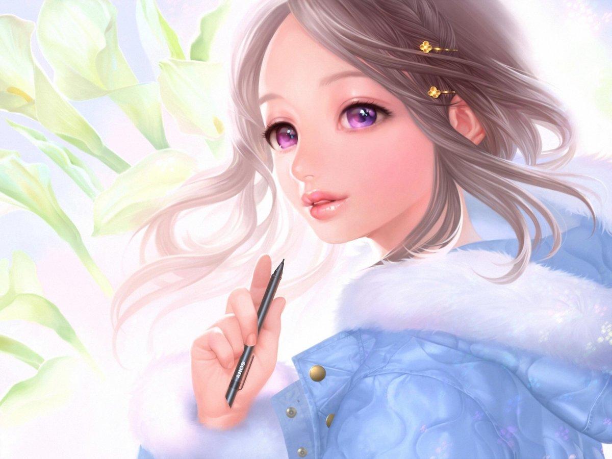 Рисованные девушки формами, Очень красивые картинки - рисунки девушек от Girlym 15 фотография