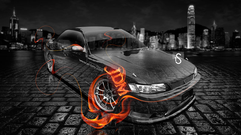 Toyota Mark 2 JZX90 JDM Style Fire Crystal