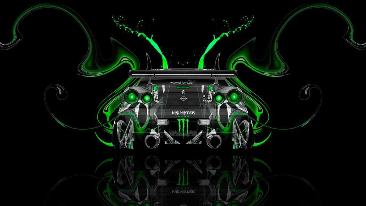 Monster Energy Nissan Skyline GTR R34 JDM Back