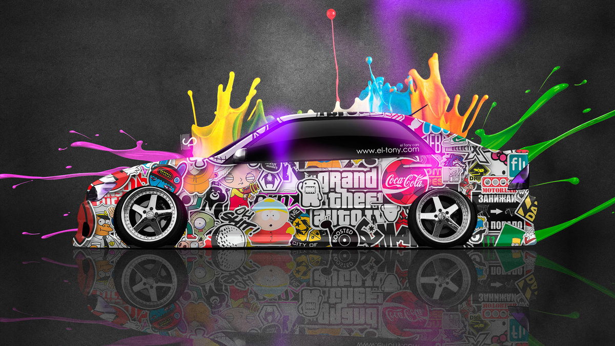 Captivating Toyota Altezza JDM Side Drift Live Colors Car