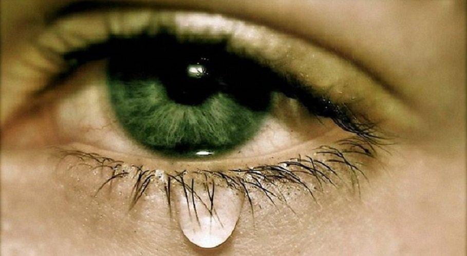 Словом, открытка глаза в слезах