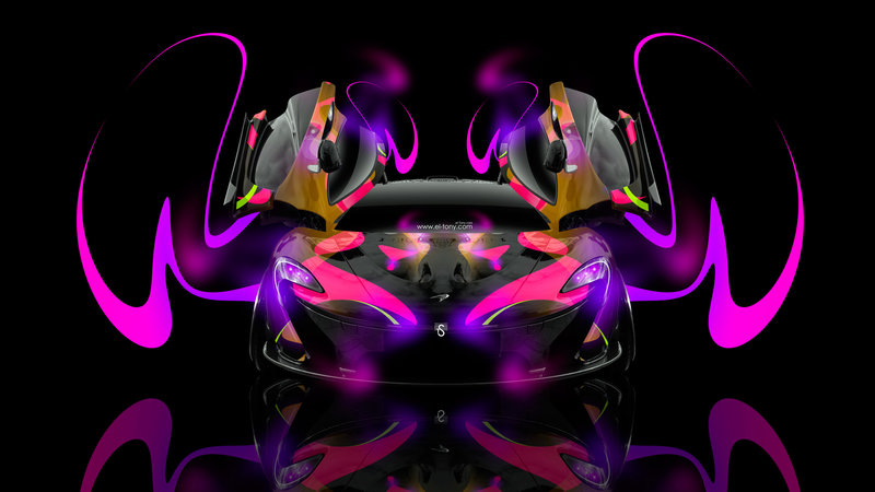 McLaren P1 Open Doors Super Abstract Car 2014