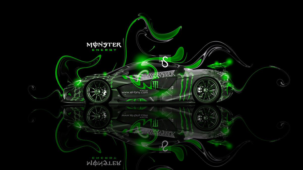Monster Energy McLaren P1 Fantasy Plastic Car 2013