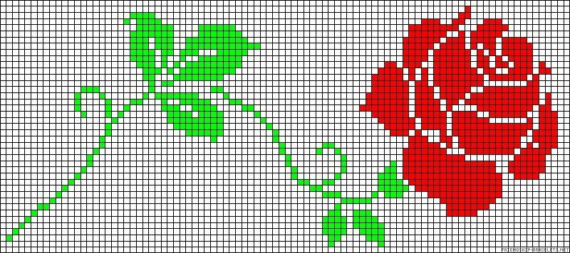 Рисунки карандашом по клеточкам цветы